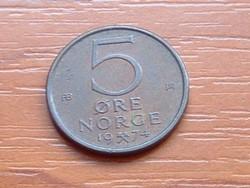 NORVÉGIA 5 ŐRE 1974 ( KEDVEZMÉNY LENT!!)