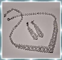 Esküvői, menyasszonyi, alkalmi ékszer szett, swarovszki kristály SSZ-ESW02-1