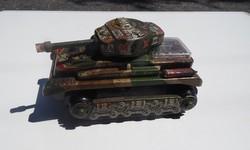 Régi retro lemezjáték bádog játék tank