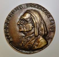 Borsos Miklós : Liszt Ferenc ,bronzplakett