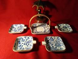 002-3  Waechtersbach Manila mintás 5 db os hamutál v. tea filter készlet 1950 körüli