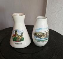 2 db Bodrogkeresztúri váza, Debrecen, Hortobágy, Gyűjtői darabok, nosztalgia