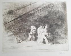 Szász Endre 25 x 32 cm-es ritka, korai
