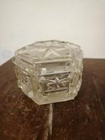 Ólomkristály ékszertartó doboz. 1930 - 1950 évek.L-32