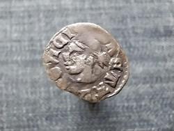 I. Lajos (1342-1382) szerecsenfejes ezüst Dénár ÉH438 (id22646)