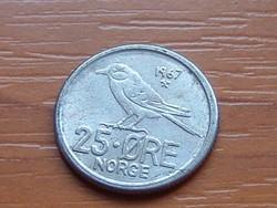 NORVÉGIA 25 ŐRE 1967 MADÁR  ( KEDVEZMÉNY LENT!!)