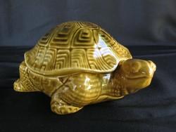 Kerámia teknős fedeles doboz ékszertartó