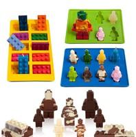 Lego figurák szilikon forma tortadekoráláshoz nyalóka készítéshez