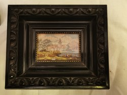 Goblein,miniatűr XIX. század,kiemelő keretben