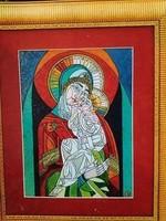 Józsa János festőművész  Madonna gyermekkel