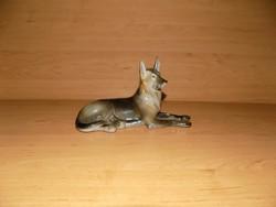 Drasche kézifestésű porcelán farkaskutya szobor 20 cm (po-3)