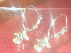 Angyalka Tibeti Ezüst kézműves Karika Fülbevaló