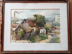 Akvarell : Tulcea 1956