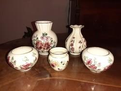 Zsolnay kézzel festett vázák, kaspók