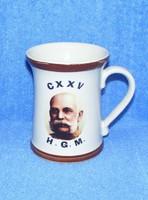 Ferenc József porcelán bögre