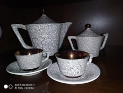Mokkás porcelán készlet 4 személyes