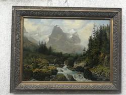 Worel, Antik festmény szép állapotban!. Német alföldi, vagy Osztrák!