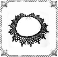 Kásagyöngyből készült apró virág mintás nyaklánc SL-GY07-5