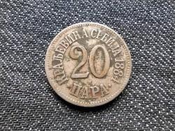 Szerbia I. Milán (1882-1889) 20 Para 1884 H / id 18819/