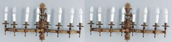 Barokk lámpa, falilámpa, falikar párban! Nagyon előkelő!