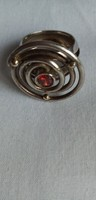 Izraeli ezüst gyűrű, modern dizájn