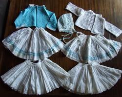 Nagyon ritka, régi,  antik babaruha, baba ruha garnitúra egyben