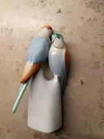 Hollóházi porcelán,Papagáj pár!