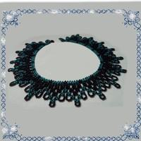Kásagyöngyből készült apró virág mintás nyaklánc SL-GY07-2