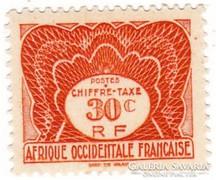 Francia Nyugat-Afrika portó bélyeg 1947