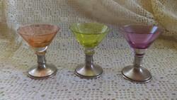 Ezüst talpas likőrös pohár