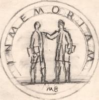 Borsos Miklós - 10 x 10 cm ceruzarajz