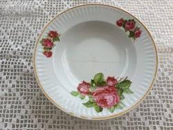 Régi porcelán falitányér rózsás tányér népi falidísz