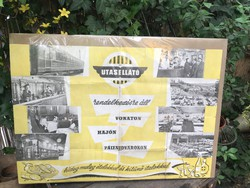 Vintage Utasellátó plakát.  83x57 cm kb.