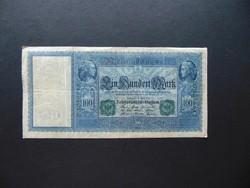 100 márka 1910 Németország   zöld pecsét