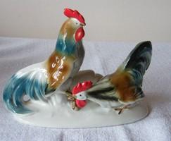 Antik nagyméretű porcelán kakas figurák!