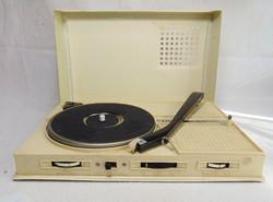 Japán Phono Book  retro hordozható lemezjátszó és rádió egyben