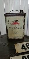 Gargoyl mobil oil régi olajos fém kanna, loft, vintae, dekor