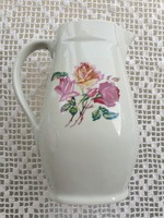 Régi Drasche Budapest porcelán rózsás kancsó kiöntő