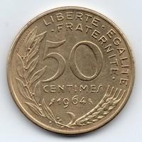 Franciaország 50 francia centimes, 1964