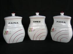 Porcelán fűszertartó készlet nagy méretű 3 db-os
