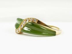 Brilles Jade köves arany gyűrű