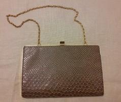 Vintage hüllő mintás (vagy az) alkalmi táska