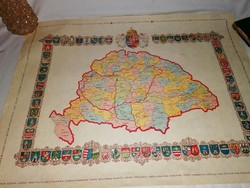 Magyarország Vármegyéinek címerei régi plakát Nagy-Magyarország