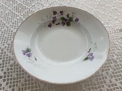 Régi porcelán falitányér ibolyás tányér népi falidísz