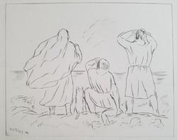 Borsos Miklós - 20 x 24 cm-es rézkarca