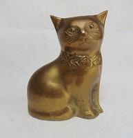 Masnis réz cica , macska szobor