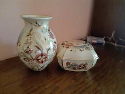 Zsolnay váza és bonbonier