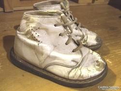 Antik bőrtalpú babacipő, baba cipő,gyerek cipő, bakancs
