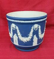 Angol porcelán faunfejes nagyméretű kaspó