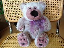 Régi Götz ritka lila színű puha plüss mackó, medve  37 cm